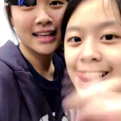 Video chatted with my friends back in Taiwan!
