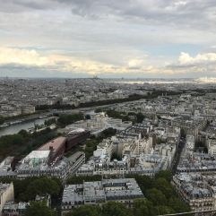 View from the second floor of the Eiffel Tower